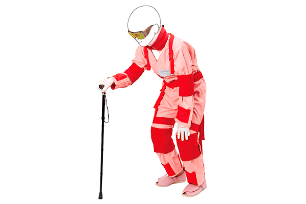 Aging simulation suit